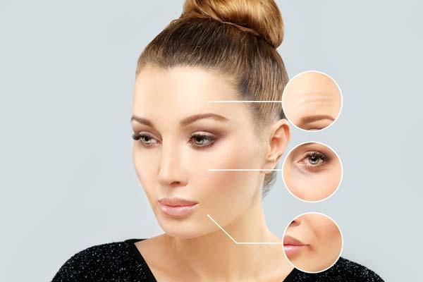 rugas e marcas de expressão no rosto